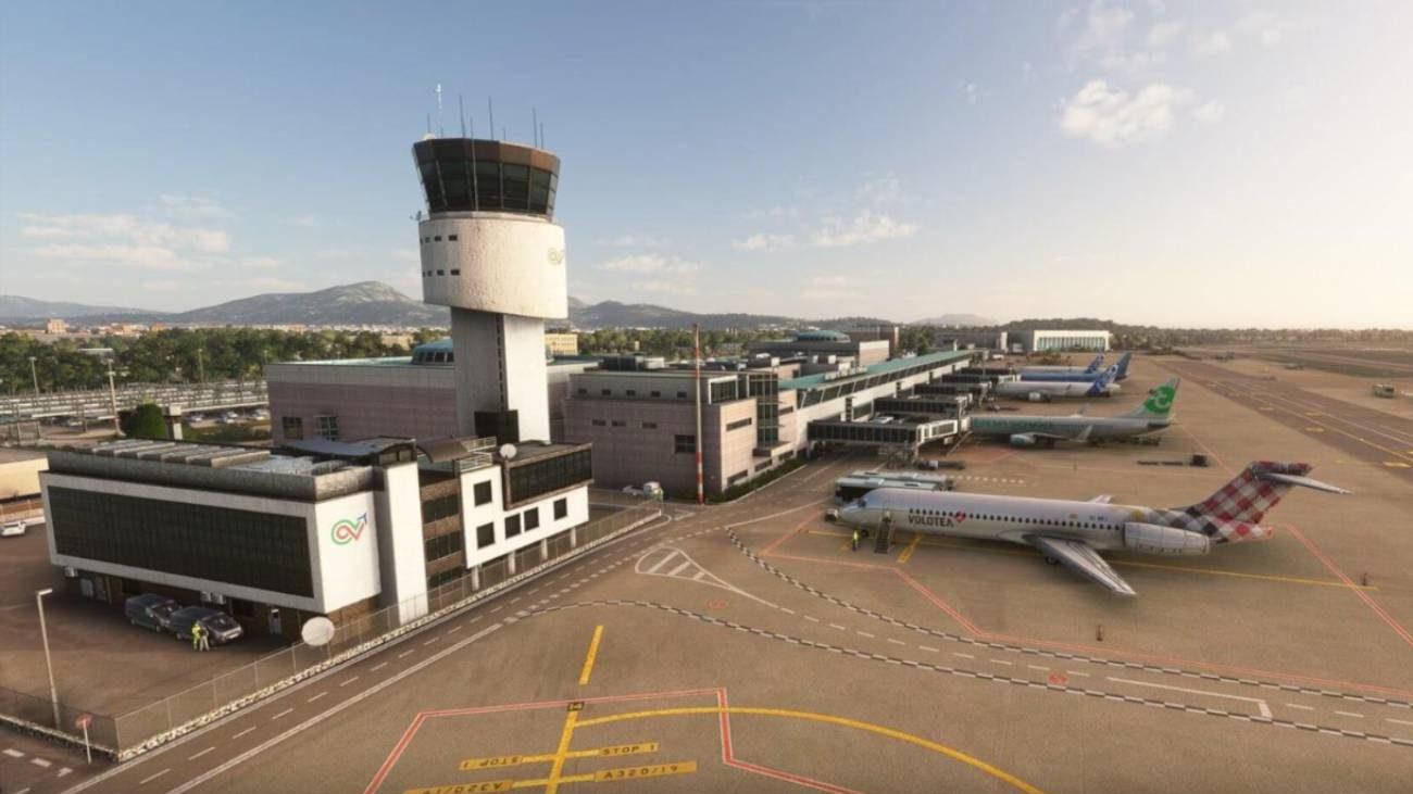 Flight Simulator aeroporto Costa Smeralda
